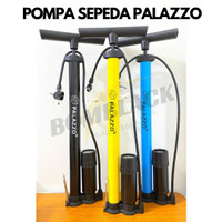 Pompa ban sepeda motor mobil bola model tabung meter manual stainless
