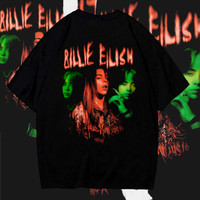 Oversized T Shirt Billie Eilish Kaos Oversize Graphic Tee Wanita / Pri