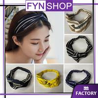 Fynshop ♛ AR29 Bandana Simpul Twist Motif Cantik Lucu Ala Korea