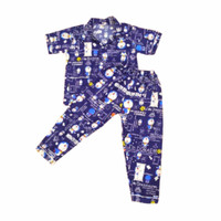 Piyama anak karakter Motif Doraemon koran - Baju Tidur anak Laki Laki