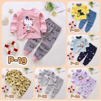 Setelan Baju Tidur Kaos Lengan Panjang Piyama Import Anak Bayi Balita