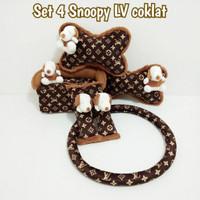 Bantal Mobil 4 in 1 SNOOPY LV CLASSIC (Cover Stir LV Coklat)