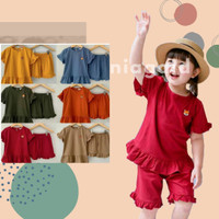 Setelan Baju Kaos Celana Main Anak Perempuan 1 2 3 4 5 Tahun Murah