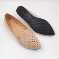 Laviola Shoes - Laviola Flat Shoes - 2856 LSF - KHAKI