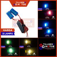 Lampu Strobo Kedip 6 LED Mini Variasi Motor Universal
