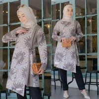 Baju Tunik Wanita Terbaru Dress Batik Wanita Kombinasi Terlaris