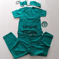 Baju OK / Baju Perawat / Baju Jaga Baju OK Pria Wanita Lengan Pendek