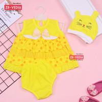 Setelan Baby Naomi 0-12 Bulan (GRATIS TOPI / BANDANA) / Baju Anak Bayi