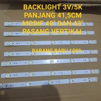 LAMPU LED BACKLIGHTT TV 3 VOLT 5 KANCING BACKLIGHT 3V 5K PANJANG 41,5
