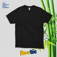 Reatic Kaos Polos Katun Bambu Cotton Bamboo - Hitam