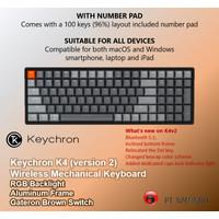 Keychron K4 version 2 RGB Backlight ALUMINUM Frame Brown Switch