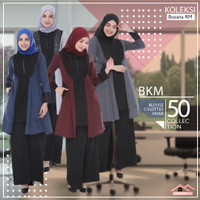 Baju Kerja Muslimah Setelan Busana Kantor Muslimah Set Kerudung BKM-50