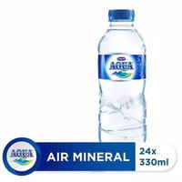 Aqua 330ml 1 Dus Isi 24 Pcs AQUA Botol Mini 330 ml Isi 24pcs