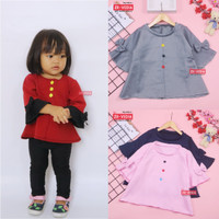 Blouse Gisell Uk 1-5 Tahun / Baju Harian Anak Perempuan Balita Lucu