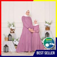 Gamis Couple Mom and Kids Homey Dress Polca -Bahan Katun Rayon Premium