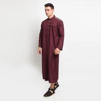 Jubah Gamis AFRICANI Pakaian Gamis Pria Al-Isra / Busana Muslim Pria - Merah, S