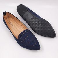 Laviola Shoes - Laviola Flat Shoes - 2858 LSF - NAVY