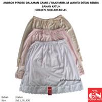 Yutind - GN art.RD A1   Androk Pendek Dalaman Rok Baju Gamis Wanita
