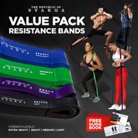 Resistance Bands Value Pack for Heavy Lifter | SVARGA | Premium Latex