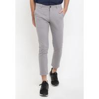 TRIPLE Celana Ankle Pant Stretch Slim Fit Light Grey (312 828 LGR)
