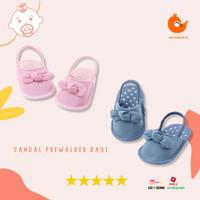 Sandal Prewalker Bayi Perempuan Karet Belakang Sol Karet Lembut