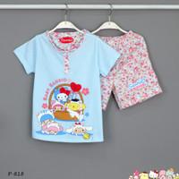 Baju Tidur Setelan Pendek Pendek Sanrio P-818/ H size 2-4-6