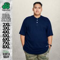 Baju Koko Kurta Putih Big Size Pria Jumbo Ukuran XXL XXXL 4XL 5XL 6XL