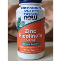Now Food Foods Zinc Picolinate 50 mg 50mg - 120 vege capsules