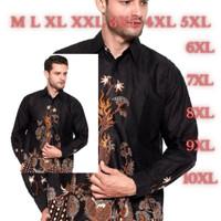 Baju batik pria lengan panjang masa kini motif modern harga grosir big - Naga Sogan, M