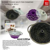 SUGGO CETAKAN KUE BOLU - TULBAN MULTI PAN DIAMOND