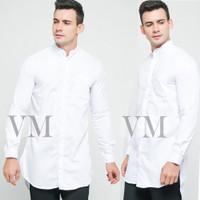 VM Baju Koko Panjang Putih Gamis Pakistan Putih Polos