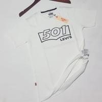 baju kaos Levis original pria fashion impor terbaru wanita - Putih, M