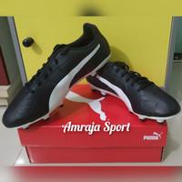 Sepatu Sepakbola Bola Puma Monarch FG Original Hitam