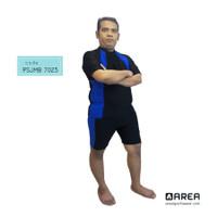Baju renang diving pria / wanita setelan unisex Big Size - Biru, 3L