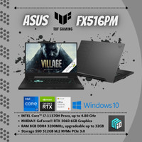 ASUS TUF FX516PM (Core i7-11370H/8GB/512GB SSD/NVIDIARTX3060/WIN/OHS)