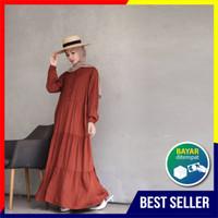 Gamis Dewasa - Homey Dress Polos Jumbo Bahan Katun Rayon Premium Adem