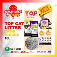 Pasir Kucing TOP CAT LITTER 10lt [GOJEK-GRAB]