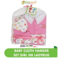 Baby Cloth Hanger Set Jumper Girl NB - Ladybug