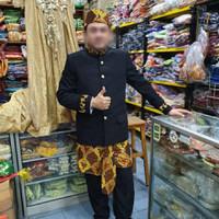 beskap demang dewasa// baju adat sunda / baju demang betawi - hitam L1