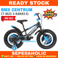 Sepeda Anak Laki 16 18 Inch BMX CENTRUM CT 8625-3-8 Ban Jumbo 3.0