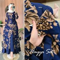 Gamis Syari Wanita Dewasa Muslimah Fashion Muslim Dress Motif Bunga