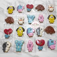 Kukis Hias, Kukis Karakter, Fancy Cookies BTS 21 - Vanila