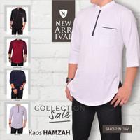 Baju Muslim Pria/ Kaos Kurta/ Kaos Modern/ Baju Koko/Katun Kaos Hamzah