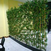 Partisi Bambu Pohon Hias Plastik Tinggi 2 M