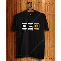 Kaos Tshirt Baju Uang Elektronik Eat Sleep Mine Bitcoin