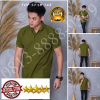 Kaos Polo Shirt Polos hijau army polos/kaos kerah pria/baju kerah/polo
