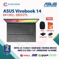 Asus VivoBook 14 K413EQ-EB551TS i5-1135G7 8GB 512 SSD MX350 14 W10+OHS
