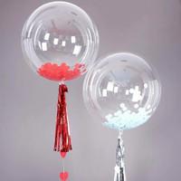 bobo balon pvc transparan 12 inch