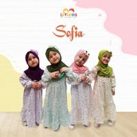 Baju Muslim Gamis Anak Perempuan Bahan Katun Jepang Usia 3-10 Tahun