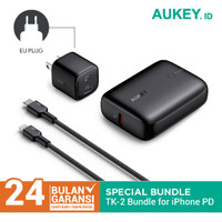 Aukey Special Bundling TK-2 For iPhone PD & QC Support (Black)- 500713